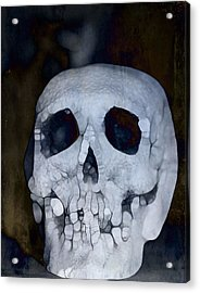 Scary Skull Acrylic Print by Dan Sproul