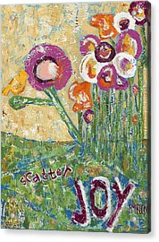 Scatter Joy Acrylic Print by Kirsten Reed