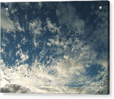 Scattered Clouds Acrylic Print by Margaret McDermott