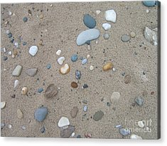 Scattered Pebbles Acrylic Print by Margaret McDermott