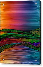 Scattering Waves Acrylic Print