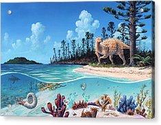 Scelidosaurus Dinosaur Acrylic Print by Richard Bizley