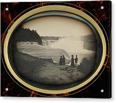 Scene At Niagara Falls Platt D. Babbitt Acrylic Print by Litz Collection