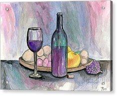 Scene From An Italian Restaurant Acrylic Print by Roz Abellera Art