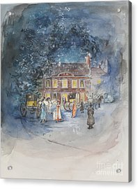 Scene From Jane Austens Emma Acrylic Print by Caroline Hervey Bathurst