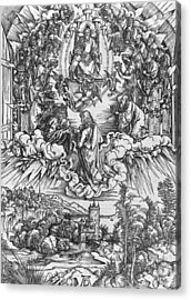 Scene From The Apocalypse Acrylic Print by Albrecht Durer or Duerer