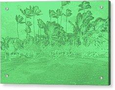 Scene In Green Acrylic Print