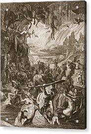 Scene Of Hell, 1731 Acrylic Print by Bernard Picart