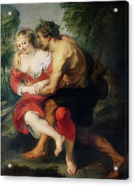 Scene Of Love Or, The Gallant Conversation Oil On Canvas Acrylic Print