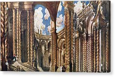 Scenery Design For The Betrothal Acrylic Print