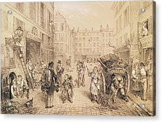 Scenes And Morals Of Paris, From Paris Qui Seveille, Printed By Lemercier, Paris Litho Acrylic Print by French School