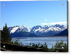 Acrylic Print featuring the photograph Scenic Byway In Alaska by Kathy  White