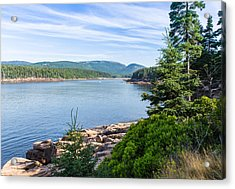 Acrylic Print featuring the photograph Scenic Cove At Acadia National Park by John M Bailey
