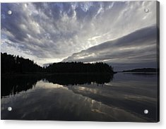 Scenic Maine Roque Island Archipelago Reflections Acrylic Print by Susan  Degginger