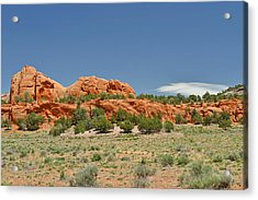 Scenic Navajo Route 12 Near Fort Defiance Acrylic Print by Christine Till
