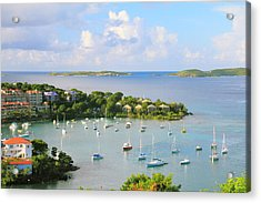 Scenic Overlook Of Cruz Bay St. John Usvi Acrylic Print