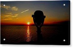 Scenic Sunset Acrylic Print by Stephen Melcher