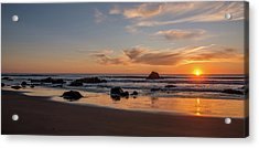 Scenic View Of Beach At Sunset, San Acrylic Print