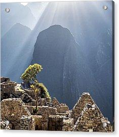Scenic View Of Machu Picchu Acrylic Print by Diego Cambiaso / Eyeem