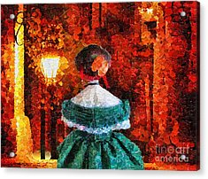 Scent Of A Woman Acrylic Print by Mo T
