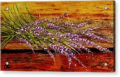 Acrylic Print featuring the painting Scent Of Lavender... by Cristina Mihailescu