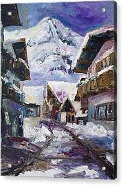 Schattberg Austrian Alps Acrylic Print by Barbara Pommerenke