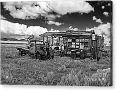 Schellbourne Station And Old Truck Acrylic Print by Robert Bales