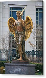 Schermerhorn Center Angel Acrylic Print by Dan Sproul