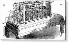 Scheutz's Calculating Machine Acrylic Print