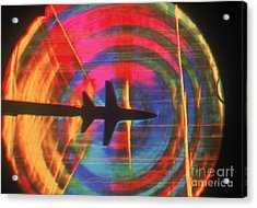 Schlieren Image Of Aircraft Acrylic Print by Garry Settles