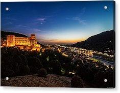 Acrylic Print featuring the photograph Schloss Heidelberg by Ryan Wyckoff