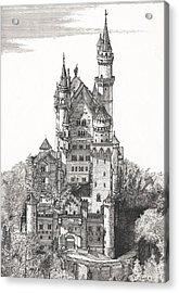 Schloss Neuschwanstein  Acrylic Print by John Simlett