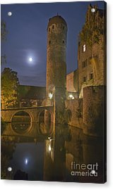 Schloss Sommersdorf By Moonlight Acrylic Print by Alan Toepfer