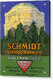 Schmidt Lithograph  Acrylic Print by Cathy Anderson