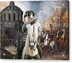 Schnauzer Art - A Siege The Sack Of Rome   Acrylic Print