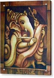 Scholar Ganesh Acrylic Print