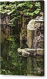 Scholar Garden Reflections Acrylic Print by Vicki DeVico