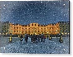 Schonbrunn Christmas Market Acrylic Print by Joan Carroll