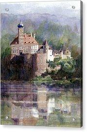 Schonbuhel Castle In Austria Acrylic Print by Janet King