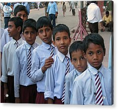 School Boys Acrylic Print