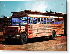 Acrylic Print featuring the photograph School Bus 5d24927 by Wingsdomain Art and Photography