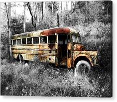 School Bus Acrylic Print by Steven Michael