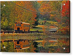 School Days Of Autumn Acrylic Print by Karol Livote