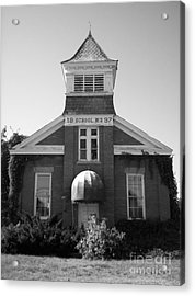 Acrylic Print featuring the photograph School House by Michael Krek