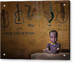 School Acrylic Print by Mohammed Al Sulaili