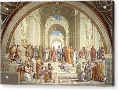 School Of Athens Acrylic Print by Raphael