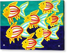 School Of Fish Acrylic Print