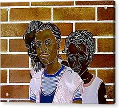 Schoolgirls Acrylic Print