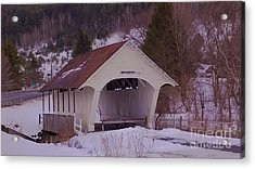 Schoolhouse Covered Bridge. Acrylic Print