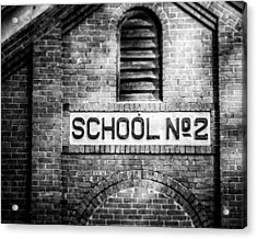 Schoolhouse No. 2 In Black And White Acrylic Print by Lisa Russo